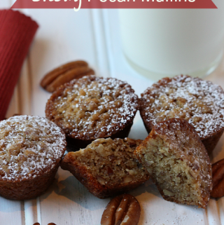 Mini Chewy Pecan Muffins