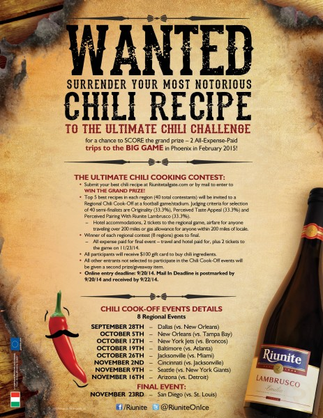 Riunite Chili Challenge