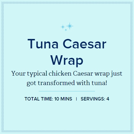 Chicken of the Sea - Tuna Caesar Wrap Header