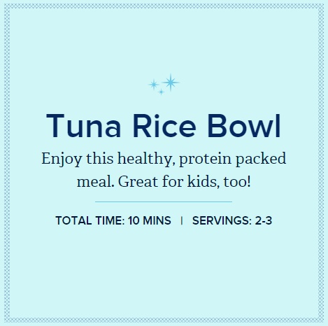 Chicken of the Sea - Tuna Rice Bowl Header