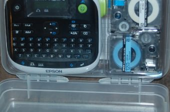Cut the Chaos, Label With Epson LabelWorks Iron-on Kit