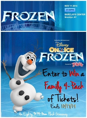 Disney On Ice presents Frozen, Eighty MPH Mom Giveaway