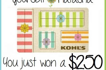 Kohl's Yes2You Rewards Gift Card Winner, Eighty MPH Mom