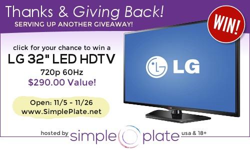Flatscreen tv giveaway,Simple Plate