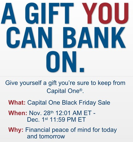 capital one, black friday,sale