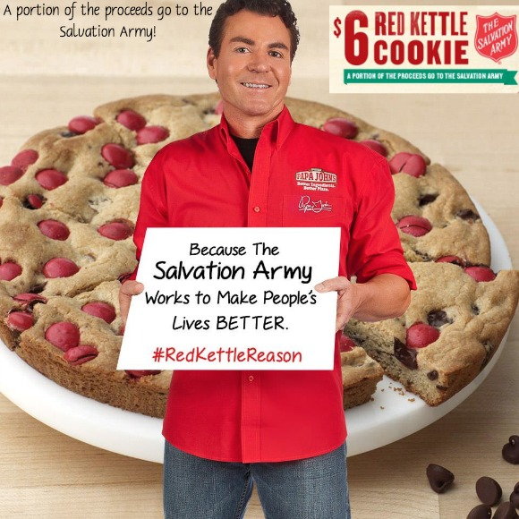 papa john's,red kettle reason cookie,salvation army