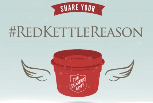 salvation army, #RedKettleReason,donate