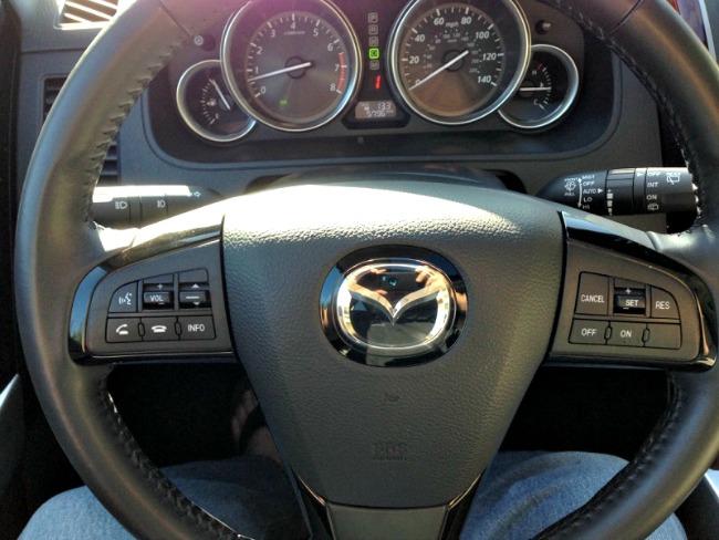 2015 Mazda CX-9, steering wheel