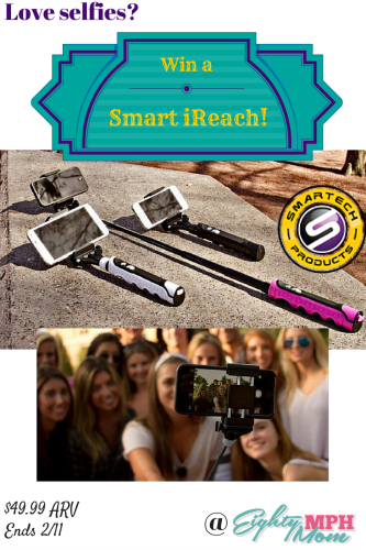 Smart iReach,selfie stick, giveaway