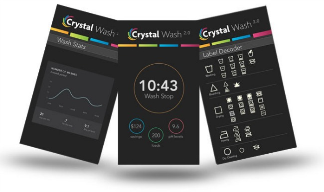 crystal wash,laundry app
