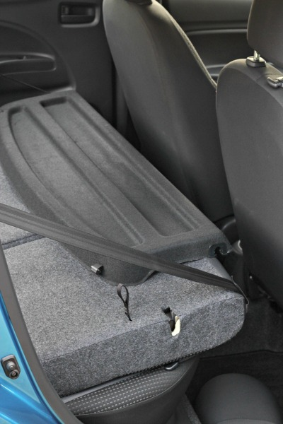 2015 mitsubishi mirage folding backseat