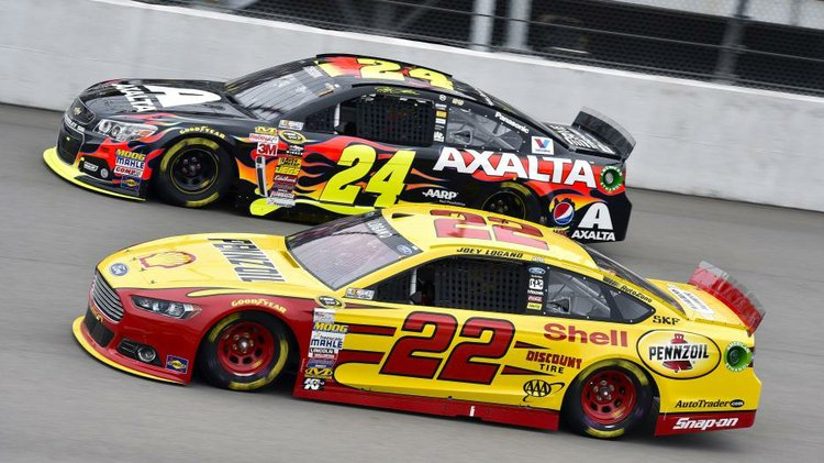 Joey Logano & Jeff Gordon - Image Credit: Style Magazine