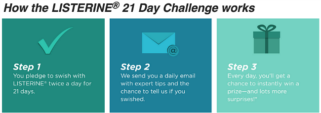 listerine 21 day challenge how it works