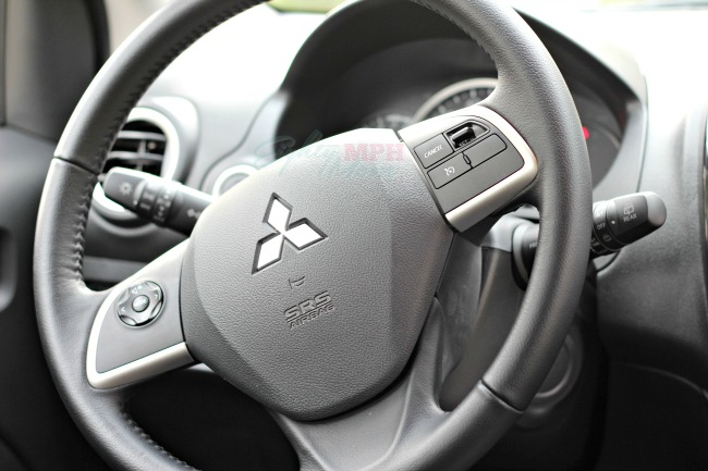 mitsubishi mirage, steering wheel