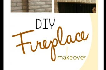 DIY Brick Fireplace Makeover Tutorial