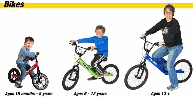 Strider Bikes - Ages & Sizes