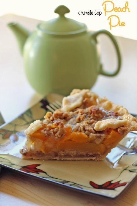 crumble top peach pie