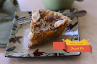 Crumble topped Peach Pie