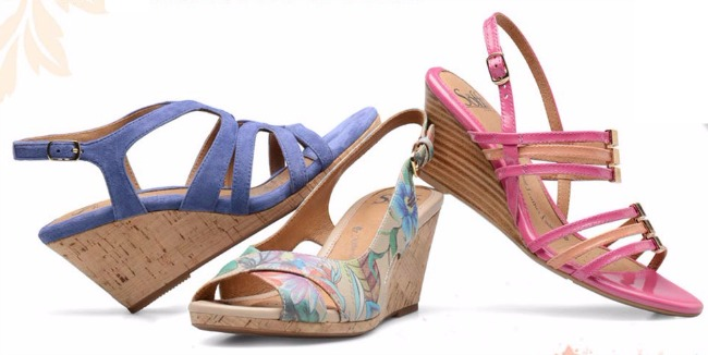 Sofft colorful wedge sandals