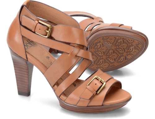 sofft shoes rae sandal in luggage color