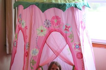 Floral Wreath Play Tent from HABA for Fun Indoor Play!  Review