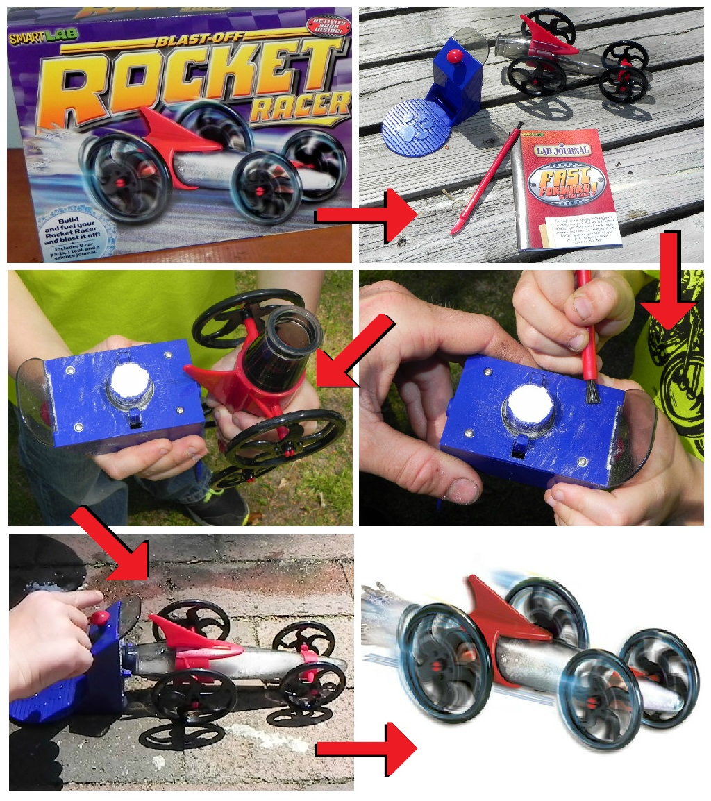 SmartLab Toys - Blast-off Rocket Racer, Collage