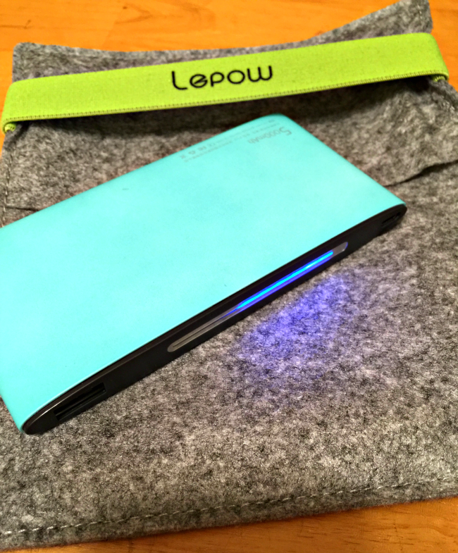 lepow poki charger mint green