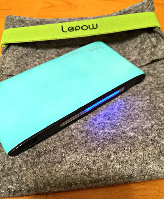 lepow poki charger mint green