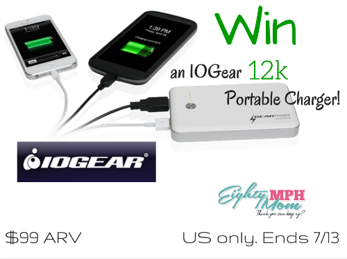 IOGear 12k portable charger giveaway