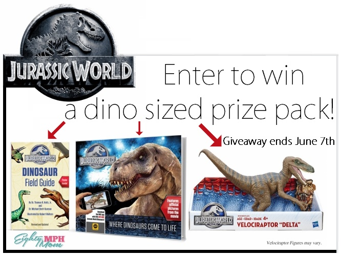 Jurassic World Giveaway, Week 1 - Eighty MPH Mom