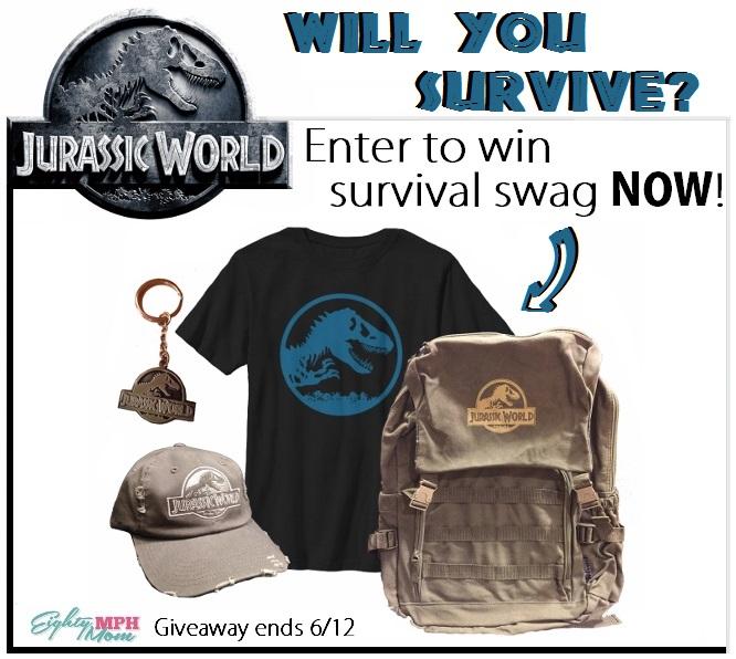 Jurassic World Giveaway, Week 2 - Eighty MPH Mom
