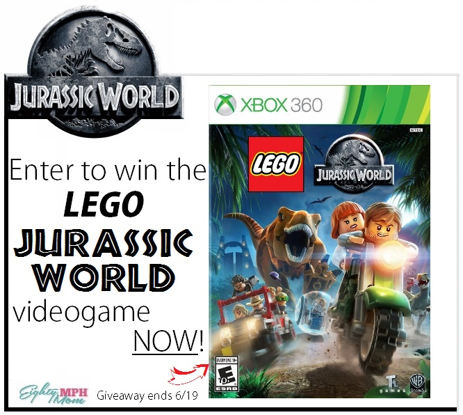 Jurassic World Giveaway, Week 3 - Eighty MPH Mom
