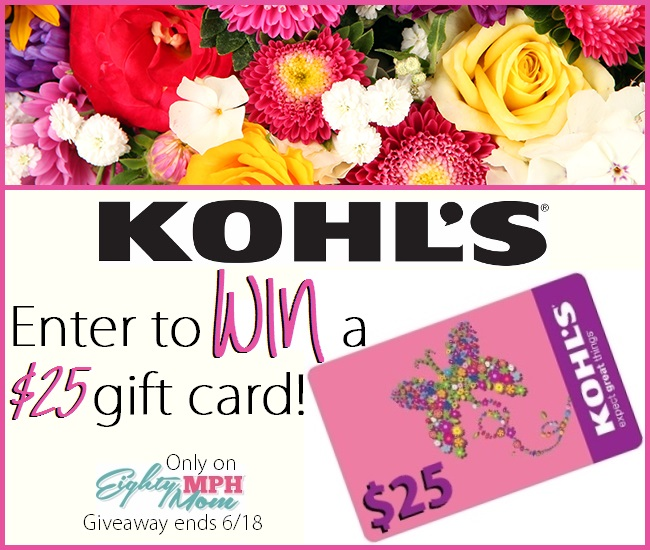 Kohl's Giveaway - Eighty MPH Mom