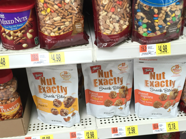fisher nut exactly snack bites in stores