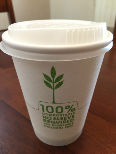 repurpose plant based coffee cup