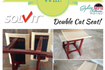 Solvit Products Feline Furniture – Double Seat for Cats