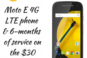 GIV Mobile: No Contract Plans that Give Back Moto E 4G LTE Phone