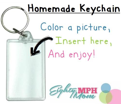 Homemade Keychain, Eighty MPH Mom