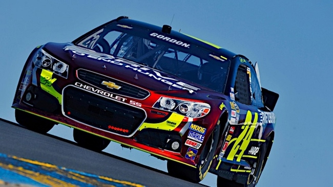 Jeff Gordon at Sonoma 2015