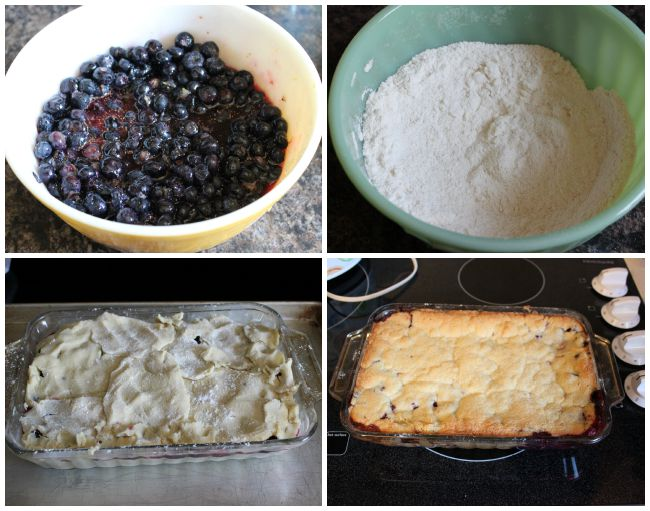 P.A.N. Cornmeal Blueberry Cobbler