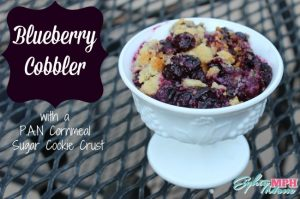 Blueberry Cobbler with Cornmeal Sugar Cookie Crust