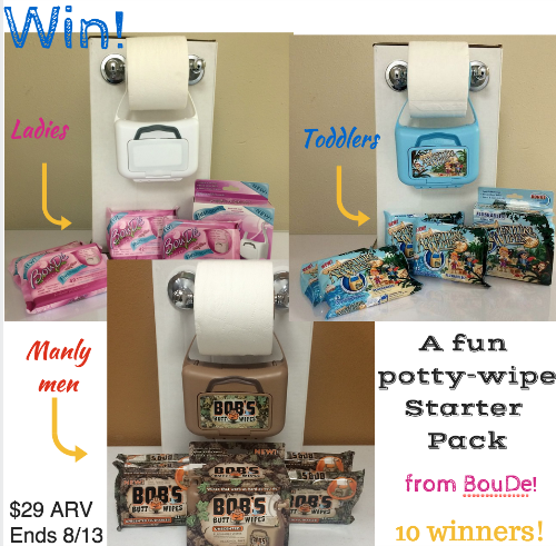 Bob's butt wipes giveaway