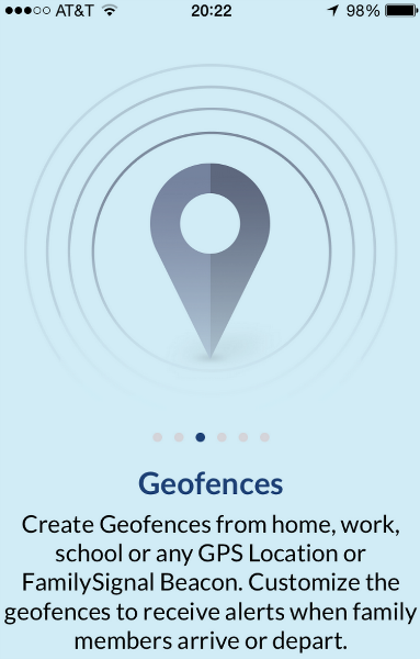 family signal app geofences