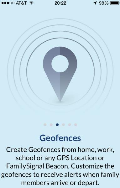family signal app geofences