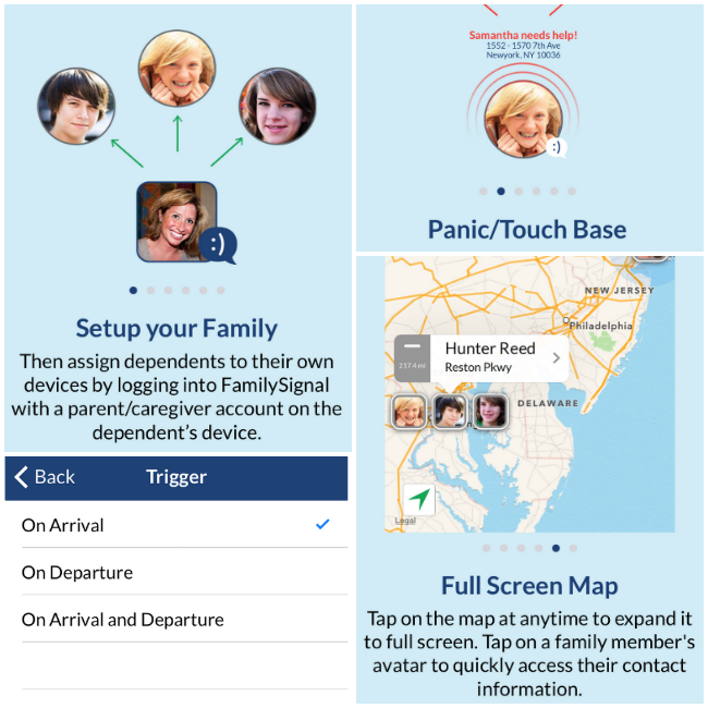 familysignal app features