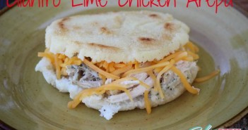 Cilantro Lime Chicken Arepa