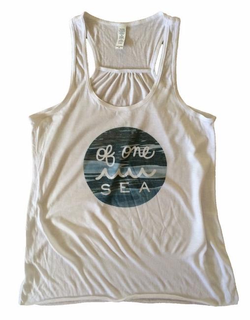 OF ONE SEA - Water Logo Flowy Tank