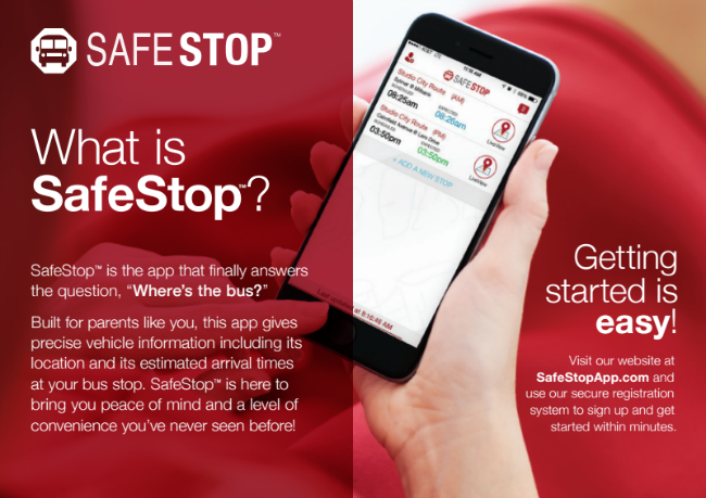 SafeStop mobile app
