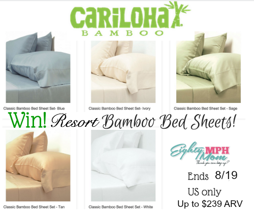 cariloha bed sheets giveaway