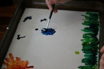 KinderCare Glistening Salt Art Paint Activity